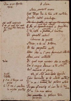 Giacomo Leopardi - A Silvia - 1828    [...]  quando beltà splendea  negli occhi tuoi ridenti e fuggitivi  [...]