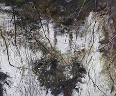 Gordon Smith - Reflections, VanDusen Gardens, 2004 Abstract Landscape, Landscape Paintings, Landscapes, Light In The Dark, Woodland, Watercolor, Ponds, Drawings, Gardens