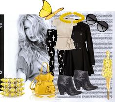 """tocco di giallo"" by samavile ❤ liked on Polyvore"