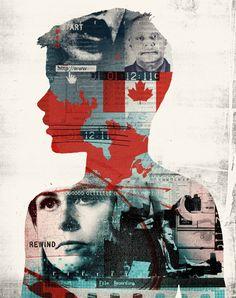New Yorker / 'Project Spade' - Alex Williamson, Graphic Images / Illustration Digital Portrait, Digital Collage, Collage Art, Animal Graphic, Graphic Art, Graphic Design, Political Art, Political Events, Propaganda Art