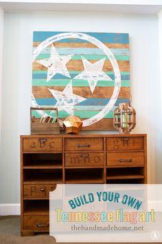 tennessee flag art - the handmade home
