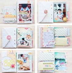 Mini album made of two sizes of envelopes.  So cute!