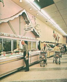 Publix Lighting From The 1960s. U.S. Fluorescent Mfg. Co. Fixtures