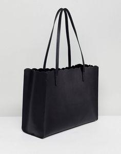 a9f83209a062 ASOS Scallop Shopper Bag With Removable Clutch - £25.00 Shopper Bag, Duffel  Bag,