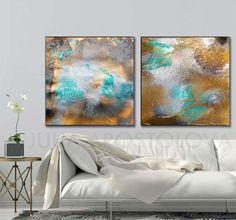 #90x45inch, #TwoPanel #WallArt, #Abstract #Watercolor #Print, #XXL #Painting, #Turquoise and #Gold, #Diptych #Art, #Set of 2 #Prints, #JuliaApostolova by #JuliaApostolovaArt on #Etsy #artcollectors#interiordesigners #abstractart#livingroomdecor #walldecor#goldleaf  #decor #interior #abstractcanvasart#contemporaryartist