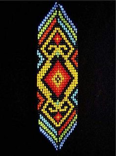 Beaded Bracelet Patterns, Peyote Patterns, Beading Patterns, Stitch Patterns, Loom Bracelets, Friendship Bracelets, Collar Indio, Beading Projects, Loom Weaving