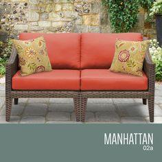 Manhattan 2 Piece Outdoor Wicker Patio Furniture Set 02a