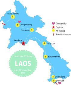 Projet 2017 - Itinéraire au Laos : budget, infos et liens utiles