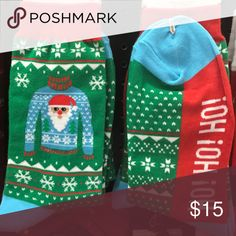 Ugly Christmas Sweater Socks Women's size 4-10. Extremely cute and soft! 65% Cotton 15% Nylon 15% Polyester 5% Spandex. No trades. Kyoot Klothing Accessories Hosiery & Socks