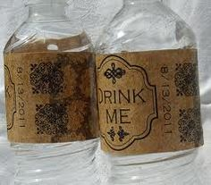 Very cool idea to jazz-up plain cooldrink bottles for your table