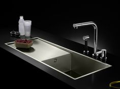 Fregadero de acero inoxidable con escurridor Colección Water Units by Dornbracht