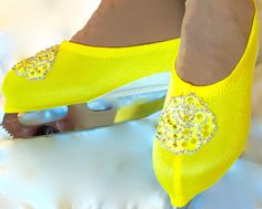 Belle/Beauty and the Beast Inspired Skate Boot Covers/Figure Skating Boot covers/Ice Skating Boot Covers/Roller Skating Boot Covers by SkatingDressbyKelley on Etsy Figure Skating Costumes, Figure Skating Dresses, Roller Skating, Ice Skating, Beauty And The Beast Dress, Ice Dance Dresses, Skate, Trending Outfits, Boots