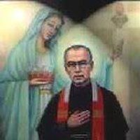 Aug 15, 1941 - St Maximilian Kolbe was martyred by lethal injection of carbolic acid after being starved  at Auschwitz Concentration Camp photo: When St Maximilian Kolbe was 12 yrs old, Mary appeared to him at the parish church of Pabianice, Poland and offered him a white crown of chastity and a red crown of martyrdom - he chose both crowns WhenStMaximilianKolbewas12yrsold.jpg