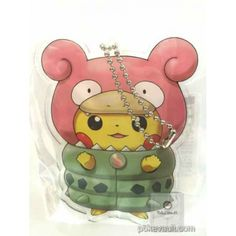 Pokemon Center 2015 Poncho Pikachu Series #1 Mega Slowbro Character Keychain