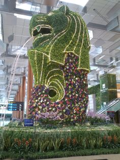 Merlion, Changi Airport, Singapore