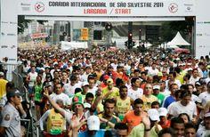 Corrida Internacional de São Silvestre, São Paulo, New Year's Eve, ~10k.