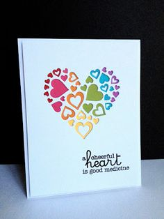 Sweet Cut-Out Hearts Card...I'm in Haven: Hearts Aren't Just for Valentine's Day.