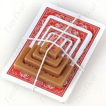 Tinyview  Magic Tricks Tool Prop Kits Training Accessory Charming Party Magical Set- Shrinking Playing Cards FMI-14974