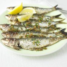 Sardines with crisp paprika crumbs Recipes Bbc Good Food Recipes, Healthy Recipes, Skinny Recipes, Detox Recipes, Fish Recipes, Seafood Recipes, Grilled Sardines, Spicy Prawns, Crumb Recipe