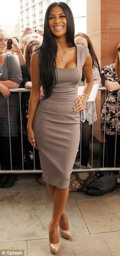 Posh fans: Pussycat Doll Nicole Scherzinger wore the same dress to the Manchester X Factor