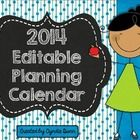 Here is a colorful 2014 calendar that you can open in PowerPoint, insert and text box, add your text, change the font and print or save.    Perfect...
