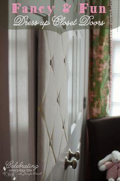 French Memory Board Closet Door; Padded/Quilted Closet Door