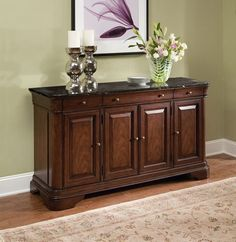 Heritage Court Credenza with Marble Top by Legacy Classic Bed Furniture, Home Decor Furniture, Dining Room Furniture, Furniture Design, Dinning Room Tables, Indian Home Decor, Home And Living, Room Decor, Interior Design