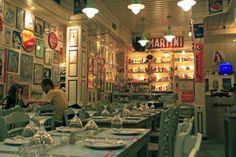 restaurant in Psirri, Athens. What A Wonderful World, Greek Islands, Athens, Wonders Of The World, Travel Destinations, Greece, Restaurant, Urban, Space
