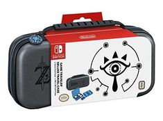 Nintendo Switch Game Traveler Deluxe Travel Case- Zelda Breath of the Wild - Sheikah Eye - Grey