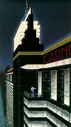 talesfromweirdland: It has been a while since I posted one of Robert Hoppes streamlined Art Deco illustrations. This one is called Casino art deco Online Casino Games in Canada Art Deco Artwork, Art Deco Paintings, Art Deco Posters, Vintage Posters, Vintage Art, Art Deco Illustration, Art Deco Stil, Modern Art Deco, Art Nouveau