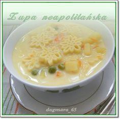 zupa neapolitańska Cheeseburger Chowder, Food And Drink, Menu, Ethnic Recipes, Kitchen, Dinners, Polish, Drinks, Decor
