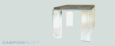 *Crystalline Side Table* A floating moonstone slab atop a lucite pedestal