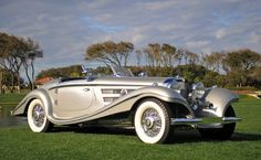 1937 Mercedes 540K. Sold to an Argentine industrialist for $12k in '37, sold at Pebble Beach '12 for $9.68M. Absolute Beauty!