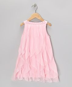 Take a look at this Pink Cascade Dress - Toddler & Girls on zulily today!