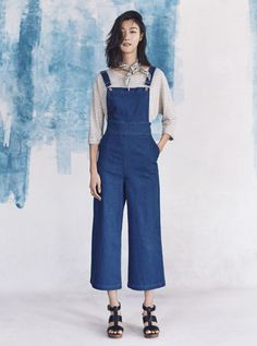 Madewell's Spring 2016 denim culotte overalls...I'm all over these.