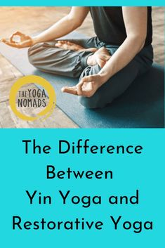The Difference Between Yin Yoga and Restorative Yoga. People don't know that Yin Yoga and Restorative Yoga aren't the same thing.Read more to see the differences between the two styles of yoga and for you to check which style may be best for you. Iyengar Yoga, Ashtanga Yoga, Vinyasa Yoga, Yoga Poses For Digestion, Yin Yoga Benefits, Yoga Training, Hard Yoga, Yoga Handstand, Yoga Breathing