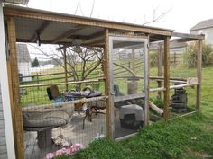 Outdoor enclosure for the cats - I LOVE this & I want one!!!