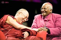 Good Friends from different walks of life, His Holiness & Archbishop Desmond Tutu.