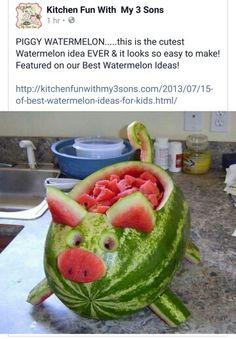 Pig Shaped Watermelon