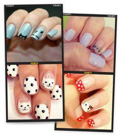 cat-inspired nail polish #nails #mani #DIY