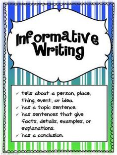 Informative Writing | Informative writing, Common core writing and ...