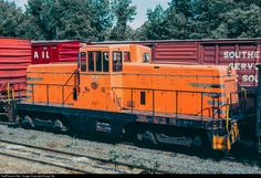 One of six 80-ton switchers belonging to GE's Schenectady works, thirty-seven year old number 16, was passing through the Conrail's Allentown yard, along with sister number 17. They may have been being sent out for work, but my guess is that they were on their way to the scrappers.