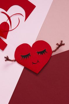 Valentine Red and Black Wooden-Heart Wall Decorations Valentines 10.5 in