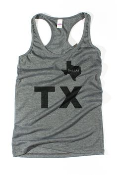 "WOMEN ""TX Dallas"" tank top #bullzerk #tx #tanktop #fitness"