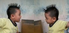 mohawk hairstyle for kid - my boy abbie get simple mohawk hairstyle