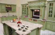 Yeşil Mutfak Dolabı