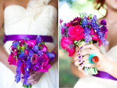 Willy Wonka inspired colour theme for wedding.
