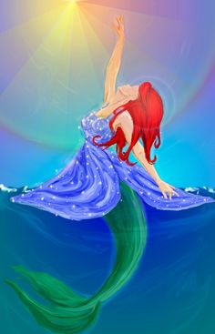 Ariel- I've always loved the contrast between when Ursula changed her and when King Triton did. :)