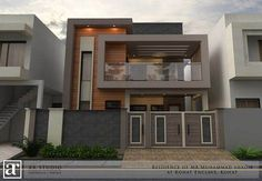 House design - Project by AR Studio ardiscreet com AR Studio is Architectural Firm It provide all services about planning, design, construction and interior design Moderno Modern Exterior House Designs, Exterior House Colors, Modern House Design, Exterior Design, Kerala House Design, Wall Exterior, Bungalow House Design, House Front Design, Small House Design