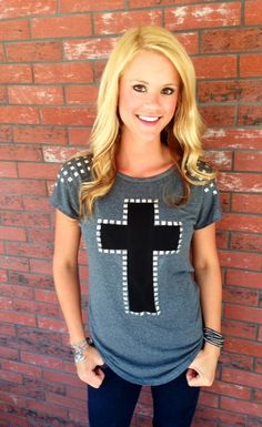 Studded Cross With Awesome Back!
